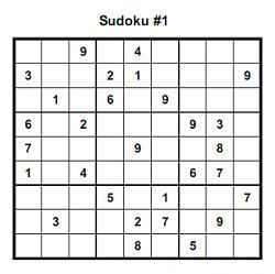 Printable easy suduko puzzles